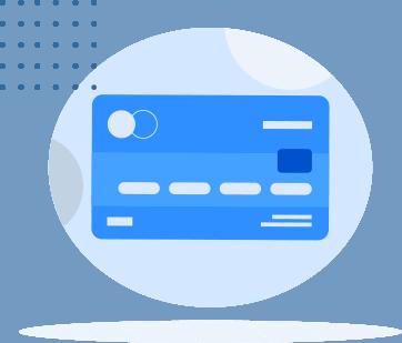 illustration of a credit card