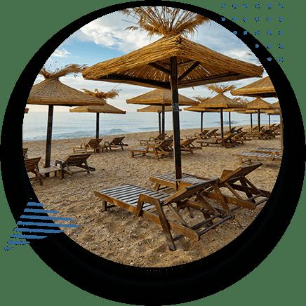 Tropical Resort Beach Lounge Chairs